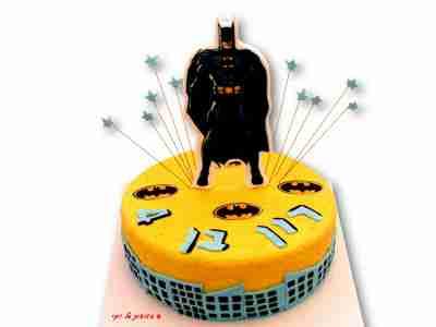 עוגה מצוירת באטמן