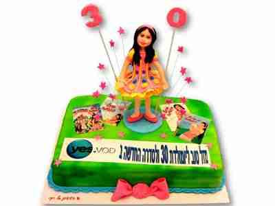 עוגת יום הולדת למיכל הקטנה